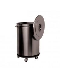 Bac à déchets Inox roulant sans pédale - 90 L - L2G