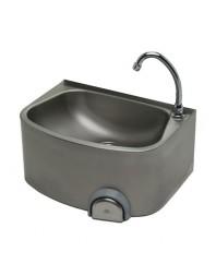 Lave-mains inox cuve semi-circulaire - LG
