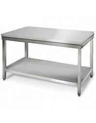 Table de travail centrale avec étagère gastro profondeur 600 hauteur 900 mm - Différentes dimensions