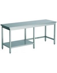 Table de travail 1/2 étagère profondeur 600 hauteur 900 mm - COMBISTEEL