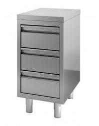 Table de travail avec 3 tiroirs - profondeur 700 hauteur 850 mm - COMBISTEEL