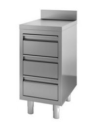 Table de travail avec dosseret 3 tiroirs - profondeur 700 hauteur 850 mm - COMBISTEEL