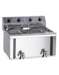 Friteuse électrique à poser professionnelle cuve double 2 x 6 litres - MBM
