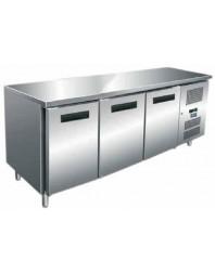 Table réfrigérée Inox/Aluminium sans dosseret - 3 portes - AFI