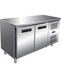 Table réfrigérée Inox/Aluminium sans dosseret - 2 portes - AFI