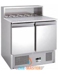 Table réfrigérée à pizzas - 2 portes - Capacité 5 GN 1/6 - AFI
