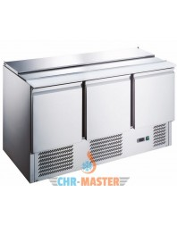 Saladette réfrigérée inox - 3 portes + couvercle télescopique -bacs GN 1/1 - AFI