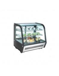 Vitrine réfrigérée 3 faces vitrées, double vitrage anti-consensation - 120 litres - AFI
