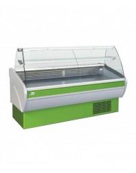 Vitrine de présentation réfrigérée - froid ventilé - 2000 mm - Vitre bombée - AFI
