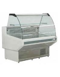 Vitrine de présentation réfrigérée - froid semi-ventilé - 1580 mm - Vitre bombée rabattable - AFI
