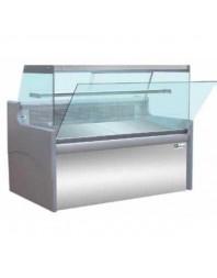Vitrine de présentation réfrigérée - froid ventilé - 1580 mm - Vitre droite rabattable - AFI