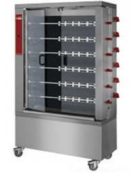 Rôtissoire à poulets électrique - 6 broches - 36 poulets - RVE/6C-CM - DIAMOND