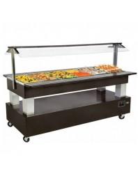 Salad'Bar mixte (réfrigéré et chauffant) 6 bacs GN 1/1 - Central