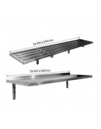 Étagères murales tubulaires - profondeur 400 mm - Top Budget - L2G