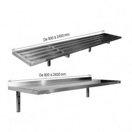 Étagère murale tubulaire - profondeur 400 mm - Top Budget - L2G