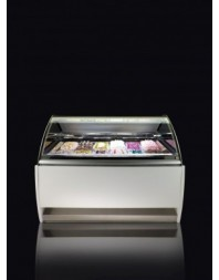 Vitrine à glace - froid ventilé - GEMMA G6 - 12 bacs 5 litres - ISOTECH