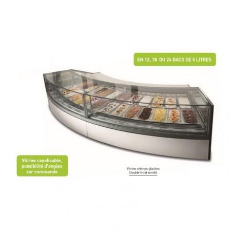 Vitrine à glace - froid ventilé - VIRNA G9 - 18 bacs 5 litres - ISOTECH