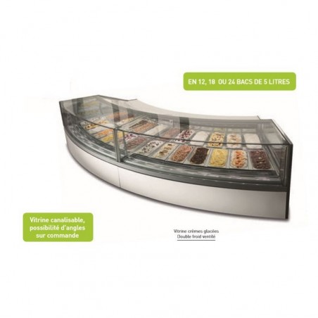 Vitrine à glace - froid ventilé - VIRNA G12 - 24 bacs 5 litres - ISOTECH