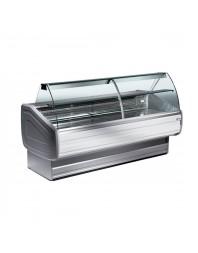 Comptoir vitrine réfrigérée à vitre bombée - froid ventilé +0°/+2°C - JINNY PLUS - DIAMOND