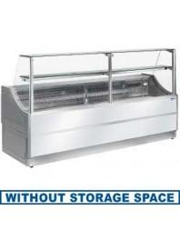 Comptoir vitrine réfrigérée à vitre droite 90° sans réserve- froid ventilé +4°/+6°C - ORLEANS PLUS - DIAMOND