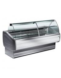 Comptoir vitrine réfrigérée à vitre bombée avec réserve- froid ventilé +0°/+2°C - ORLEANS PLUS - DIAMOND
