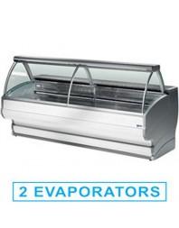 Comptoir vitrine réfrigérée à vitre bombée avec réserve- froid statique +4°/+6°C - TONGA PLUS - DIAMOND