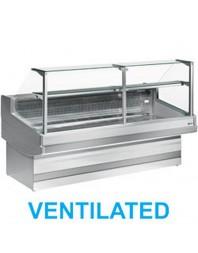 """Comptoir vitrine boucherie réfrigéré à vitre droite 90°- froid ventilé +0°/+2°C - """"Élégance Plus"""" - DIAMOND"""