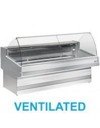 """Comptoir vitrine boucherie réfrigéré à vitre bombée- froid ventilé +0°/+2°C - """"Élégance Plus"""" - DIAMOND"""