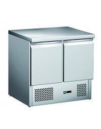 Table réfrigérée centrale positive - 2 portes -bacs GN 1/1 - L2G