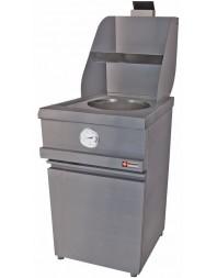 """Friteuse à pots """"Heavy Duty"""" gaz sur coffre - 1 cuve ronde 13 litres - MIKA/1-MC - DIAMOND"""