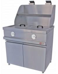 """Friteuse à pots """"Heavy Duty"""" gaz sur coffre -2 cuves rondes de 2 x 13 litres - MIKA/2-MC - DIAMOND"""