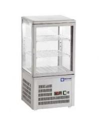 Vitrine réfrigérée grise à poser - 60 litres - +4°/+12°C
