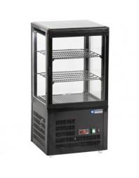 Vitrine réfrigérée noire à poser - 60 litres - +4°/+12°C