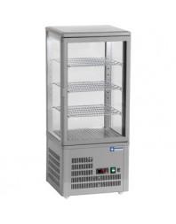 Vitrine réfrigérée grise à poser - 80 litres - +4°/+12°C