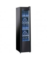 Armoire à boissons noire 1 porte vitrée - 300 litres -