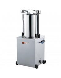 Poussoir à saucisses hydraulique vertical inox- 25 litres sur roues