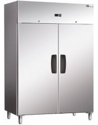 Armoire Réfrigérée Ext Inox/ Int Aluminium - 2 Portes Positives - GN2/1 - AFI