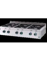 Réchaud professionnel gaz 6 feux vifs à poser - Line 750