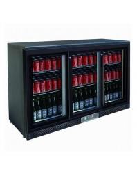 Arrière-bar réfrigéré 3 portes coulissantes - 330 litres - 6 clayettes