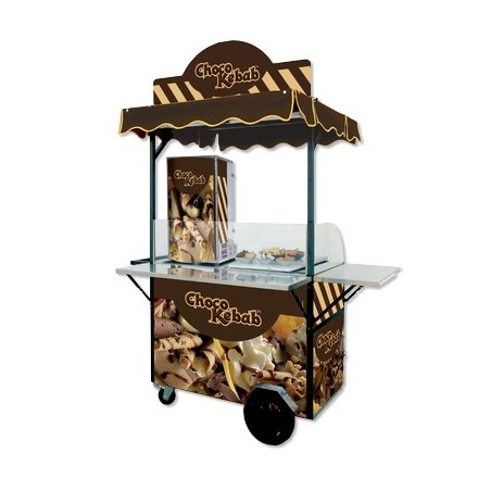 Pack complet- machine choco kebab + crepière double plaques de cuisson ∅ 30 cm + kit choco