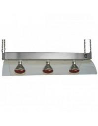 Lampe infrarouge en acier inoxydable à suspendre - Maintien chaud - 3 ampoules