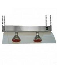 Lampe infrarouge en acier inoxydable à suspendre - Maintien chaud - 2 ampoules