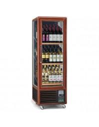 Armoire cave à vins 1 porte - 3 faces vitrées - 340 litres - Capacité 90 bouteilles