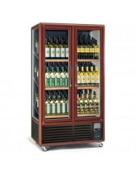Armoire cave à vins 2 portes - 3 faces vitrées - 680 litres - Capacité 180 bouteilles