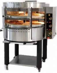 Four à pizzas gaz avec plateau et base rotatifs - 2 étages