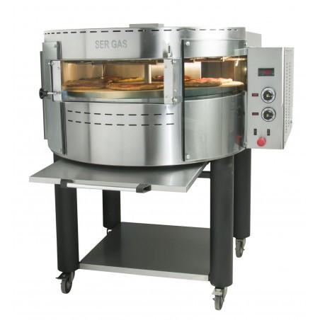 Four à pizzas électrique avec plateau et base rotatifs - 1 étage