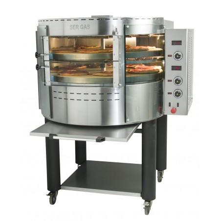 Four à pizzas électrique avec plateau et base rotatifs - 2 étages